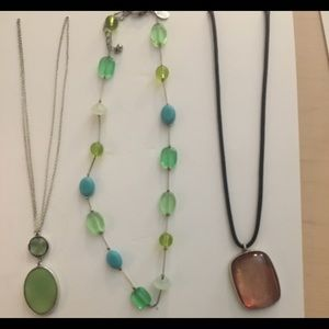 Beaded and pendant necklaces